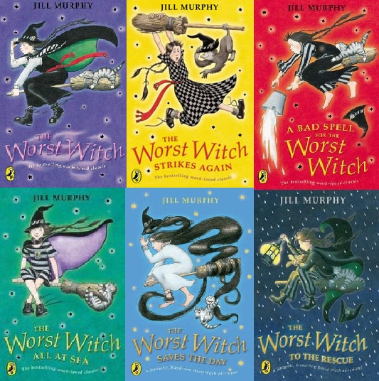 The first 6 books in 'The Worst Witch' Series