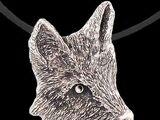 Silver foxhead medallion