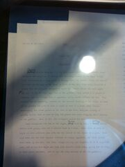 Eye of the World Manuscript