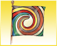 Aes Sedai flag ajah-yellow