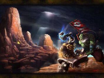 Blademaster-vs-mountainking-wallpaper