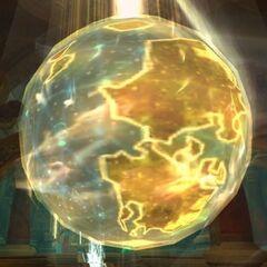Вид Калимдора на глобусе в <a class=