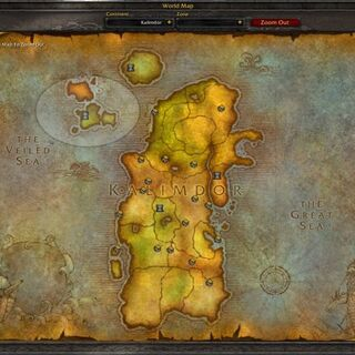 Zaktualizowana mapa Kalimdoru