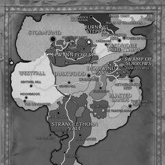 Карта Азерота в инструкции к <i>World of Warcraft</i>.