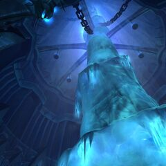 The spire, stairway to the Frozen Throne, as seen in <i>Wrath of the Lich King</i>.