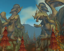 Statue dragon cratère d'Azshara
