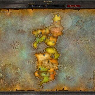 Zaktualizowana mapa Wschodnich Królestw (sprzed <a href=