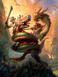 Chevaucheurs de serpent pandarens frappent les trolls Zandalari