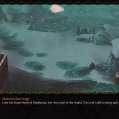Нордскол в <i>Warcraft III</i> сюжетный ролик.