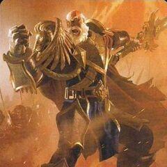 Лотар ведет в бой свою армию.