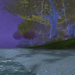 Deszcz na wyspie
