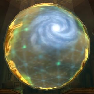 Maelstrom widziany na tytanicznym globusie w <a href=