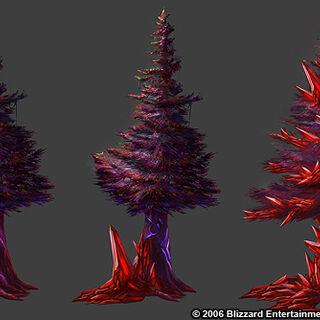 Деревья острова Кровавой Дымки