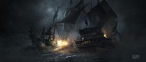 MoP naval battle silhouette 02