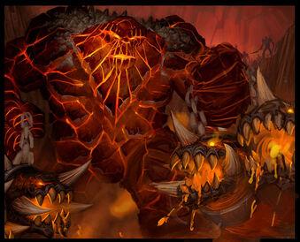 Огненные Недра консоль Големагг