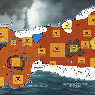 Koncepcyjna mapa krainy zaprezentowana na BlizzConie 2007