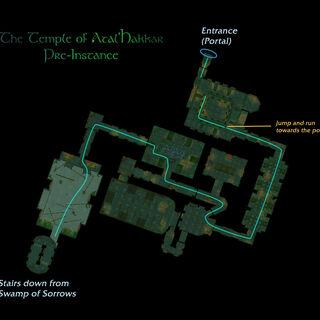 Mapa opisująca wejście do instancji