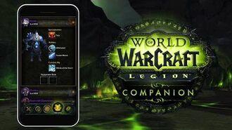 Приложение Companion для World of Warcraft Legion