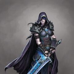 Рыцарь смерти женщина. Художник  <a class=