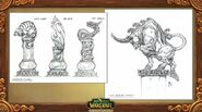 Pandaria Animal Spirits Statues Concept