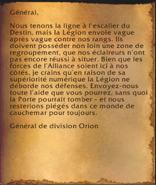 Rapport d'Orion