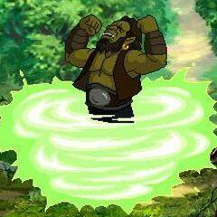 Тралл превращается в дворфа в <i>Warcraft Adventures</i>.