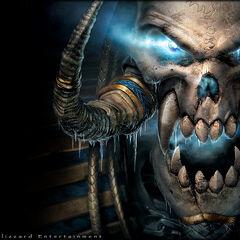 Обложка Warcraft III и изображением Кел'Тузада.