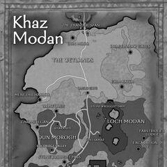 Карта Каз-Модана в инструкции к <i>World of Warcraft</i>.