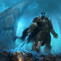 The Lich King, reanimating the fallen (by James Ryman).