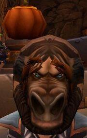 Тонкая мужская маска таурена