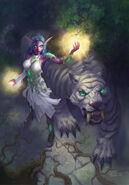 Tyrande et Ash'alah, par nightblue