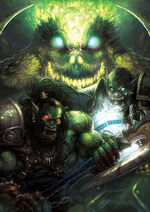 Grom hellscream and thrall by heewonlee-d35b4mc