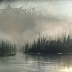 Osiedle wśród mgieł - koncepcja autorstwa Petera Lee