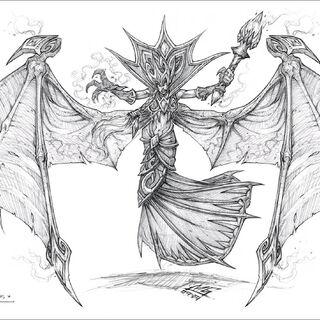 Sztuka konceptu Krwawej Królowej Lana'thel przez <a class=