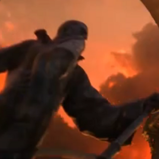 Khadgar's statue seen at Cataclysm cinematic.