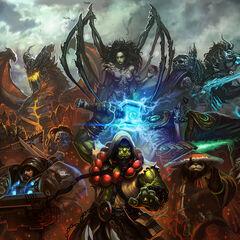 Deathwing w krzyżówce WoW ze Starcraftem.