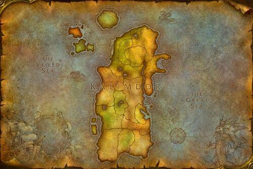 Mapa Kalimdoru