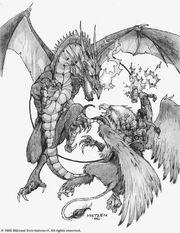 Dragon vs Gryphon