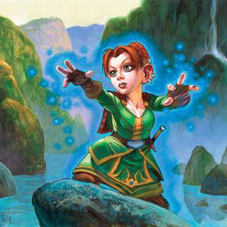Мощь тайной магии: Она погружается с головой в собственную мощь подобно тайной магии вливающейся в её тело.