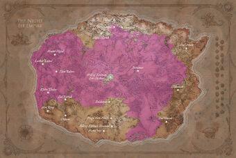 Карта империи ночных эльфов