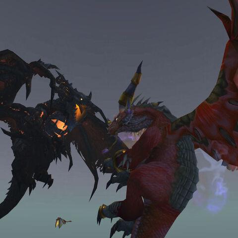 Deathwing walczący z <a href=