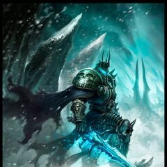 The Lich King in Icecrown (by Phrolian Gardner).