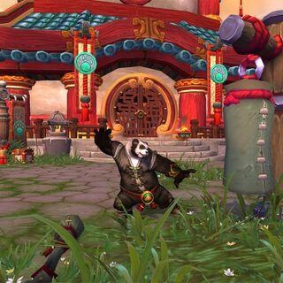 Pandaren Monk in the starting zone.