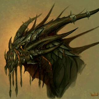 Grafika koncepcyjna głowy Deathwinga.