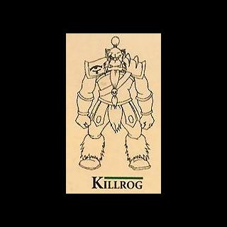 Concept art of Kilrogg Deadeye in <i>Warcraft Adventures</i>.