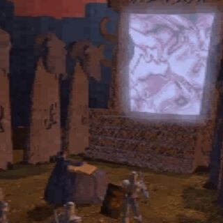 Draenorska strona Mrocznego Portalu widziana w animacji ludzi