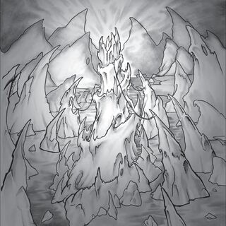 Zamarznięty Tron w Cytadeli Lodowej Korony przedstawiony na kartach <i><a class=