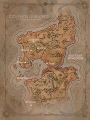 Carte des cité-états d'Arathor