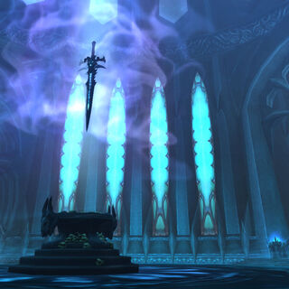 Парящая Ледяная Скорбь над алтарем.