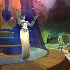 Ранняя версия модели Азшары в подземелье Источник Вечности.